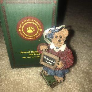 """Boyd's Bears """"Teachers Rule"""" Ornament Figurine"""